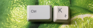 Excel hyperlink shortcut is Ctrl K